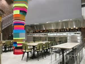 Rose Bakery Interior column by Magda Sayeg
