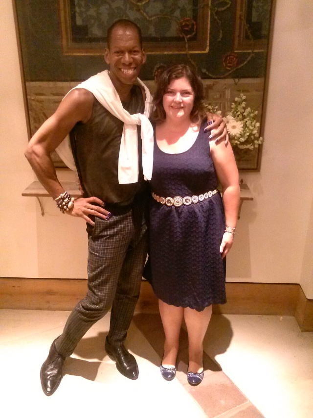 Here with my client in a dress by Mauve at Anthropologie