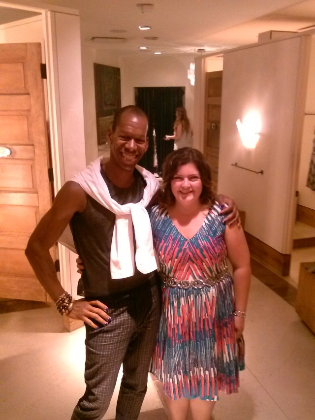 Client wears dress by Tracy Reese here at Anthropologie