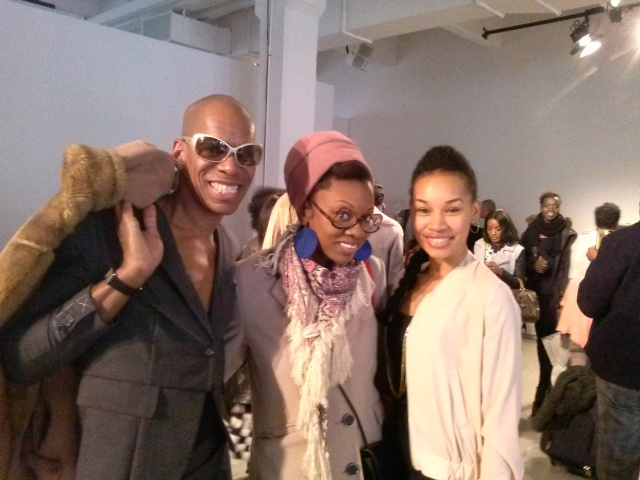 Here at TRFall14 fashion show with Lesley Ware and Monique Roberts Tracy's personal pilates trainer